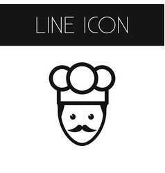 isolated chef outline cook element can be vector image vector image