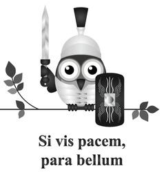 Latin prepare for war vector image