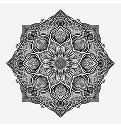 mandala circular monochrome pattern vector image