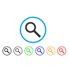 search rounded icon vector image vector image