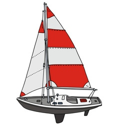 Small sailing yacht vector image