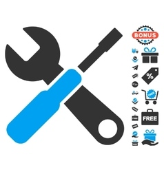 Tools Icon With Free Bonus vector image vector image