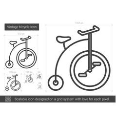 vintage bicycle line icon vector image vector image