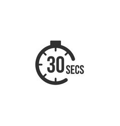 30 seconds countdown timer icon set time interval vector