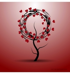A love tree with abstract vector
