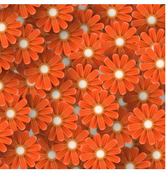 Abstract background of flowers vector