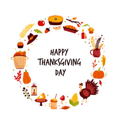 abstract circle design for thanksgiving day with vector image