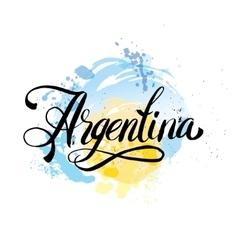Argentina vintage card vector