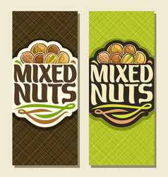 Banner for nuts vector