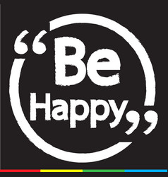 be happy lettering design vector image