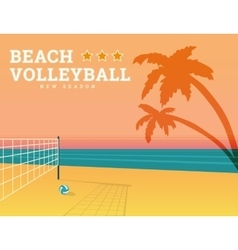 Beach volleyball season vector image