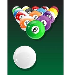 billiard balls - pool vector image