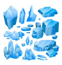 blue ice pieces vector image