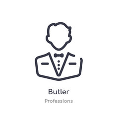 Butler outline icon isolated line from vector