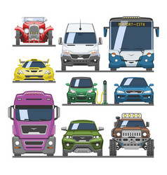 Car front view auto delivery transport vector