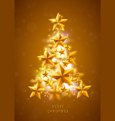 christmas and new years golden background with vector image