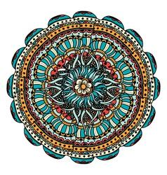 Colored mandala vector image