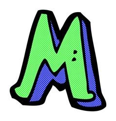 Comic cartoon letter m vector