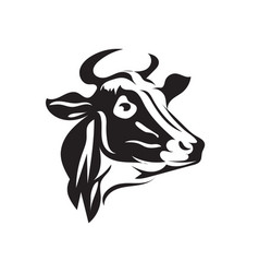 cow head animal icons logo designs vector image