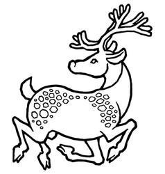 decorative sika deer vector image