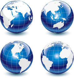 earth-globe icons vector image