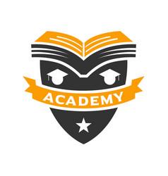 education shield logo vector image