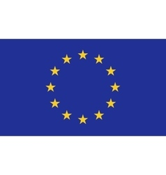 European Union flag image vector image