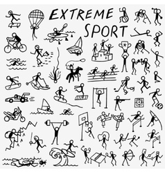Extreme sport doodles vector