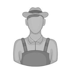 Farmer icon black monochrome style vector