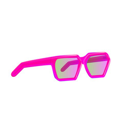 female summer with pink sunglasses vector image