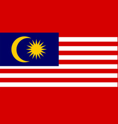 flag malaysia vector image