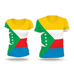 Flag shirt design of Comoros vector image