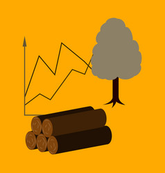 Flat icon on stylish background wood infographics vector