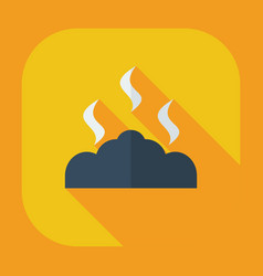 Flat modern design with shadow icons coals vector