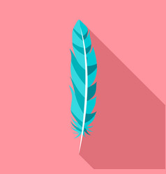 floating feather icon flat style vector image
