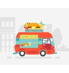 Food truck Street-food vector image