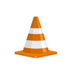 forbidden cone icon flat style vector image