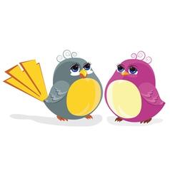 Funny birds vector