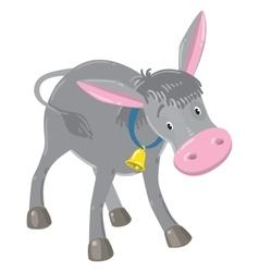 Funny gray donkey vector