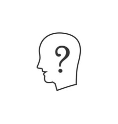 human question line icon simple modern flat for vector image