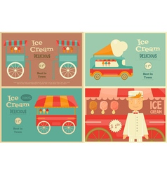 Ice Cream Posters Set vector