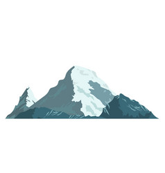 Ice mountain covered with snow vector