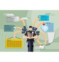 infographic Canada Border Services Agency CBSA vector image