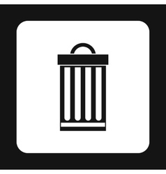 Iron trash can icon simple style vector