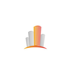 Isolated abstract city skyscraper logourban real vector