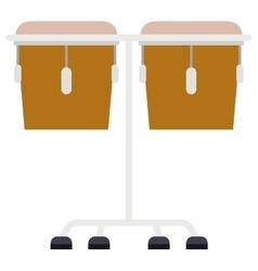 Isolated drum instrument design vector image
