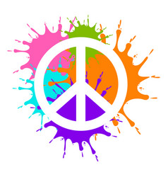 Isolated painted peace symbol vector