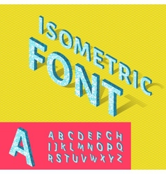 Isometric alphabet and grid font with geometric vector