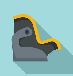 Kid car seat icon flat style vector