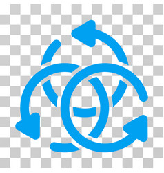 Knot rotation icon vector